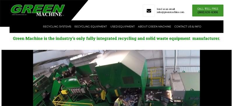 green machine recycling equipment manufacturer